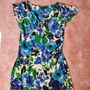 Ralph Lauren Floral Faux Wrap Dress